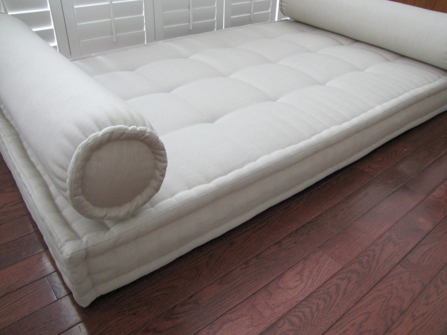 Sunbrella Custom Cushion French Mattress Cushion Tufted