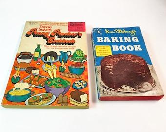 Vintage Cook Book Cookbook Vintage Kitchen Gift for Cook Baking Gifts Baker Gift Vintage Recipe Books Pillsbury Kitchen Decor Old Books