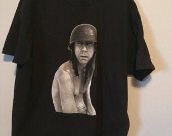 Vintage 99's iggy pop t shirt black xl rad