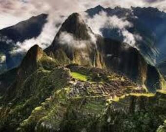 Rare tumbled Machu Picchu stone Peru