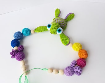crochet nursing necklace teething necklace baby teething toy baby toys baby teether baby rattle baby teether toddler gift baby boy gift