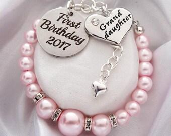 First Birthday Granddaughter Bracelet gift for granddaughter Birthday gift for granddaughter 1st birthday gift first birthday granddaughter