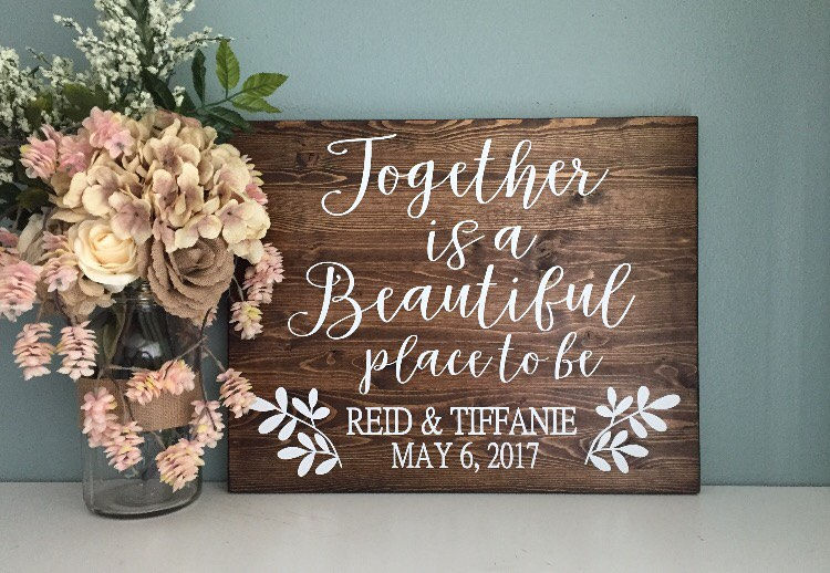 Together Is A Beautiful Place To Be / Rustic Wood Wedding