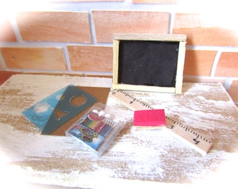 Miniatures blackboard kit - scale 1:12- Dollhouse miniatures-