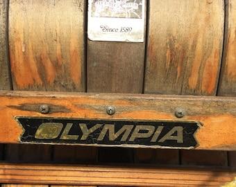 Vintage Olympia Flexible Flyer Toboggan Sled, Wood Sled, Cabin Decor