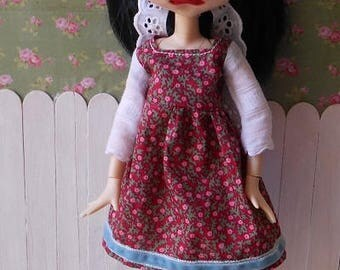 dress and hair wrap for blythe, icy doll, pure neemo
