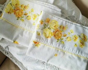 Complimentary Shipping - Lovely, Shabby, Fresh and Dreamy - Vintage Standard Size Pillowcase Set