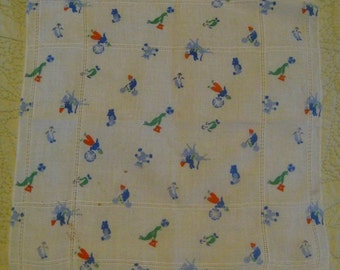 Vintage Child's Circus Handkerchief, Hanky