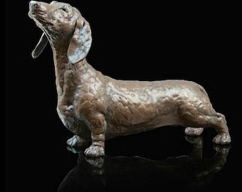 Dennis: Dachshund - Bronze Sculpture