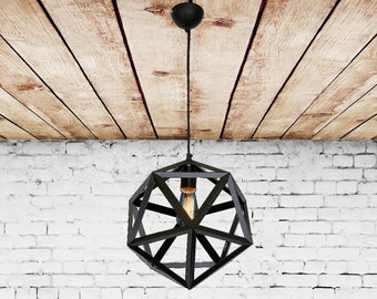 iron pendant light fixture polygon vintage industrial chandelier pendant light lantern chandelier modern lighting kitchen chandelier