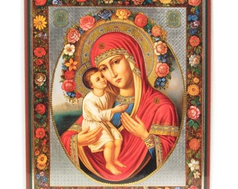 Our Lady Zhirovitskaya russian icon - #68bb