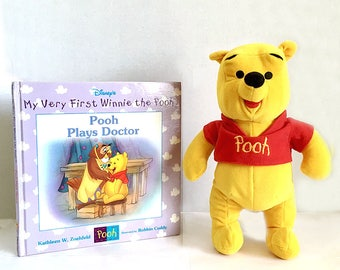 Winnie The Pooh Book, Pooh Stuffed Bear Pooh Plays Doctor Disney's My Very First Winnie the Pooh Book 1st Edition, Classic Pooh Book