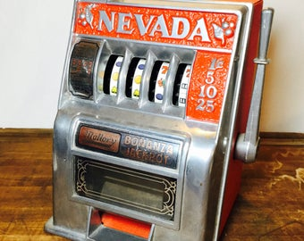 Vintage Nevada Bonanza Toy Slot Machine