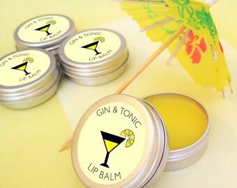 GIN AND TONIC lip balm, Gin Gift, Gin & Tonic, Wedding Favour, Hen Party, Hen Party Bag, Hen Favour, Cocktail Lip Balm, lip balm, Birthday