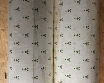 Laura Ashley Wallpaper Nutmeg Ivory Moss Green Rare