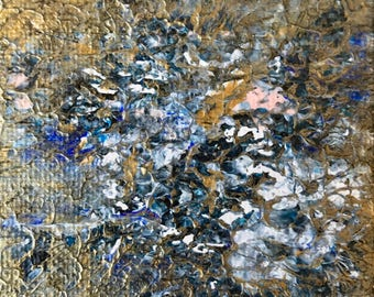 """2.5"""" x 2.5"""" miniature square original abstract painting"""