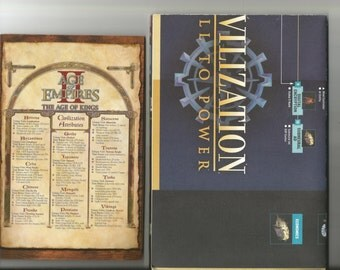 two games, Empires II, Civlization (BIG) maps