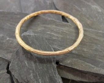 """Gold bangle bracelet """"Athos"""" bronze gold plated, bracelet Handcrafted in France."""