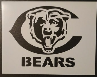 Chicago Bears Football Custom Stencil FAST FREE SHIPPING