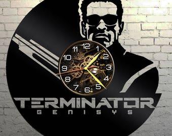 VINYL WALL CLOCK Terminator, best gift, original gift