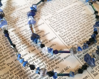 Higher Truth: Sodalite layering necklace for self-expression, communication, clarity