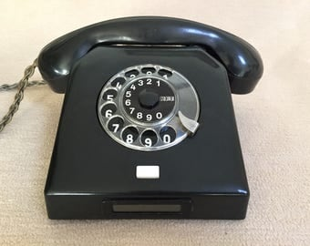 Rotary dial phone W58 original post post telephone black bakelite rotary telephone in 1961