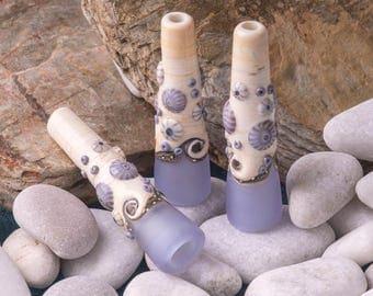 Sea Mist handmade glass Light Pull by Beach Art Glass in the UK