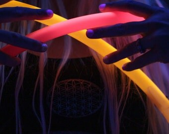 """Polypro Hoop sizes 24""""-40"""" - Collapsible PolyPro Hula Hoop - UV Colors and Glow in the Dark! Poly Pro"""