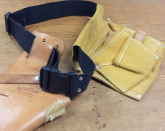 Genuine Leather Drill Holster, Tool Belt Pouches, Workwear