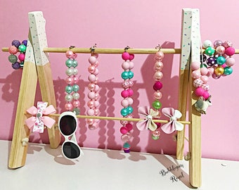 Accessories Stand Handmade, kids, ladies, hair clips, hair ties, jewellery, necklaces, wooden, Australia