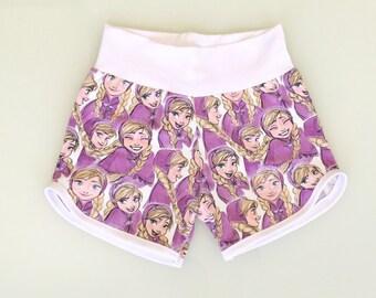 Girls casual shorts, girls retro shorts, toddler girls shorts, older girls shorts, retro stytle shorts, summer girls shorts, cotton shorts