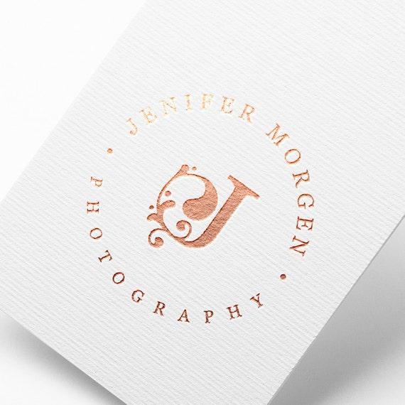 OOAK Logo, Unique Photography Logo, Rose logo Design, Elegant Logo, Initial Logo, Flower Logo, Simple Logo, Rose Gold Logo, Branding Kit