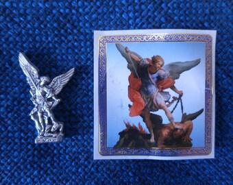 St.Saint Michael Pocket Statue & Prayer Card
