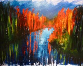 Oil painting framed/MJG framed oil painting artist #verdunluv #peinturecontemporaine #contemporaryart #Quebecartist Montreal