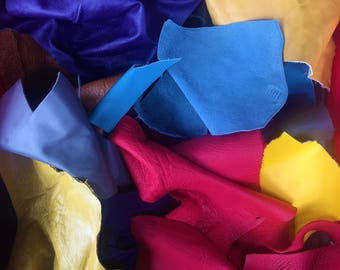 One Pound Leather Scrap Bag Miscellaneous Colors