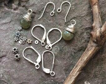 Sterling destash, findings, jewelry supply