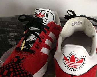 Zentangle Gazelle Adidas Shoes