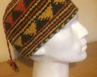 Handmade wool hat with tassel