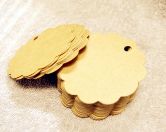 100pcs kraft hang tags,gift tag, labels,paper price tags, wedding favor tag