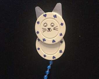 Kitty Kitty - Poker Chip Pin/Magnet