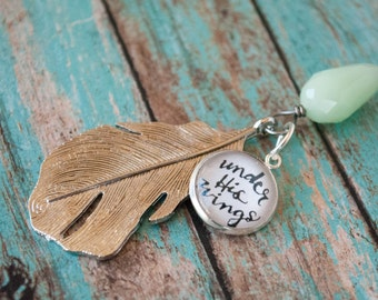 Under His Wings Long Silver Feather Necklace, Bible Verse Jewelry, Christian Long Boho Necklace, Bohemian Gifts for Christian Women, 602007