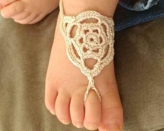 Infant, toddler barefoot sandals, beach sandals