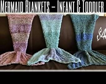 Mermaid blankets - Infant / Toddler