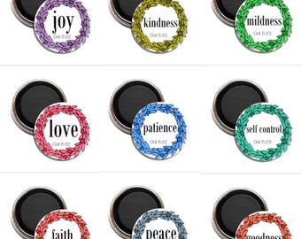 PRE ORDER set of 9 fruitages of the spirit magnets