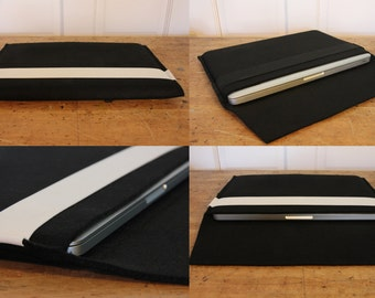 Felt laptop sleeve case with elastic