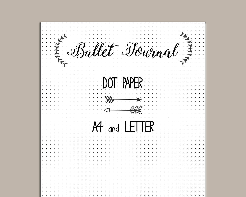 It is a picture of Gargantuan Bullet Journal Paper Printable