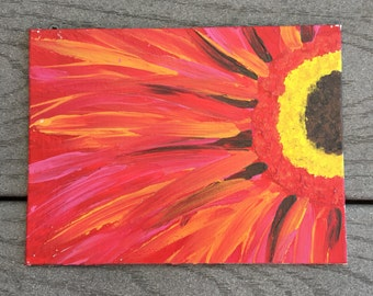 Flower painting - 5x7 flat canvas