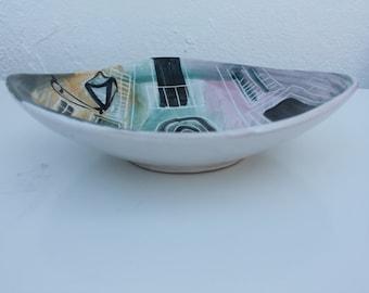 Italian Hand Painted Glaze Decorative bowl.