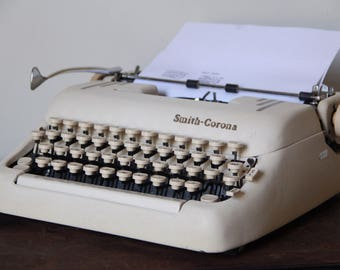 Vintage Smith Corona silent super, Working Typewritter, typewriter, Vintage Typewriter