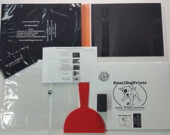"Starter Screen Printing Kit in Envelope w/ 3 pk EZ (8.5""x11"")-Also work w Yudu!"